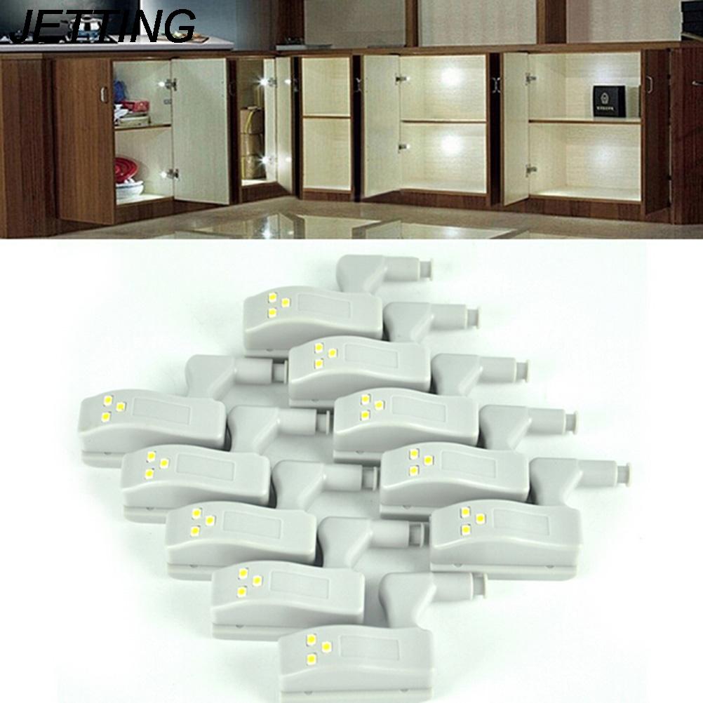 JETTING 10 Teile Los Universal Schrank Scharnier Weiss LED Licht Kleiderschrank System Modern