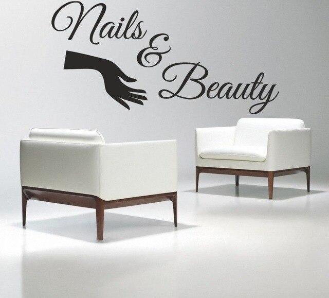 Nail Salon Vinyl Wall Decal Nails & Beauty Salon Varnish Polish ...