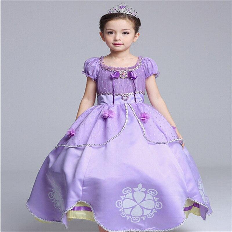 Sofia Princess Dress Kids Cosplay Costumes Girls New Arrival: Girl Dress Beauty Sofia PrincessDress Kids Girls Party