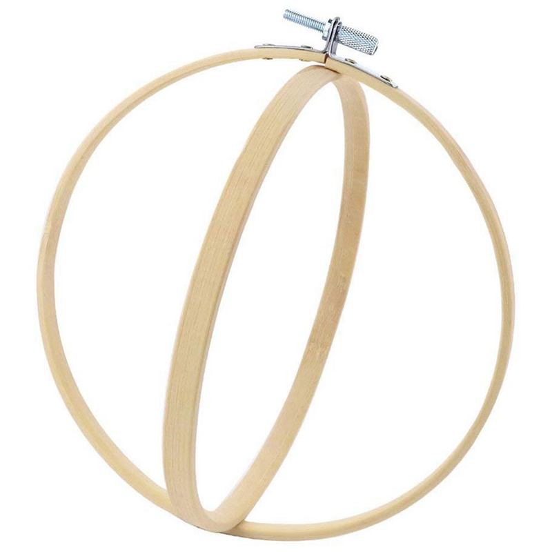 8Pcs Bamboo Cross Stitch Hoops Embroidery Hoops Circle Cross Stitch Hoop Ring for Arts Crafts Sewing (4Size)