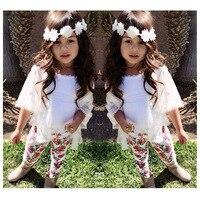 2016 Boutique Newest Spring Baby Girls Clothes Set Infant Clothing Set Kids Coat T Shirt Floral