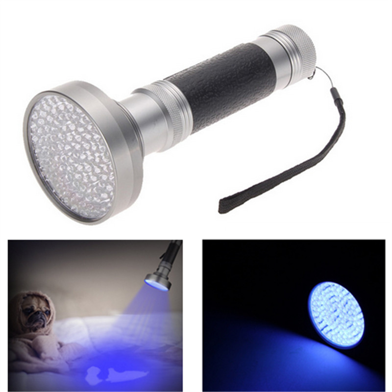 100LED UV Flashlight 395nm UV Torch Ultraviolet Pet Dog and Cat Urine Stain Finder Purple Light Lamp portable clinic clinical pet animal dog and cat refractometer rhc 300 atc blood protein serum urine plasma