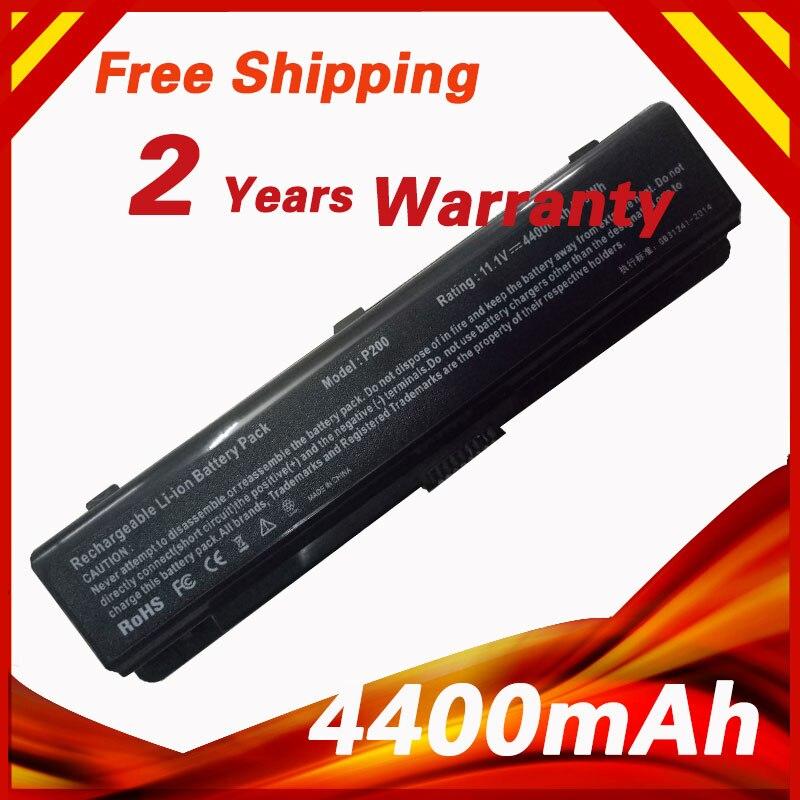 4400 mAh 10.8 v batterie d'ordinateur portable pour Samsung P200 200B 400B 600B 600B5C NP200B NP400B NP600B Série AA-PLAN9AB AA-PBAN6AB
