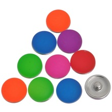 10Pcs Mixed Fluorescence Colors Round Resin Charm Snap Buttons Press Click 18x10.5mm
