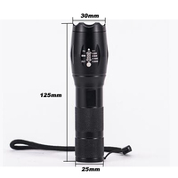 8000 Lumens Flashlight 5-Mode CREE XM-L T6 LED Flashlight Zoomable Focus Torch by 1*18650 Battery or 3*AAA Battery