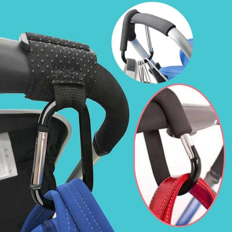 Cable Conector Resistente Gancho Grueso para Bolsos Cadena de Seguridad Color Aleatorio Mosquet/ón de Aluminio de 16 cm takestop/® Clip para Cochecito de beb/é