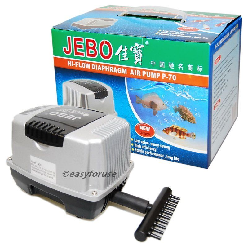 Buy 10 Outlet Jebo P70 Air Pump Indoor Aquarium Fish Tank Outdoor Koi Fish