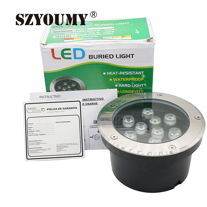 SZYOUMY 9W LED Underground Light 9W LED Underground Lamp Buried Lighting LED Outdoor Recessed Floor Lamp