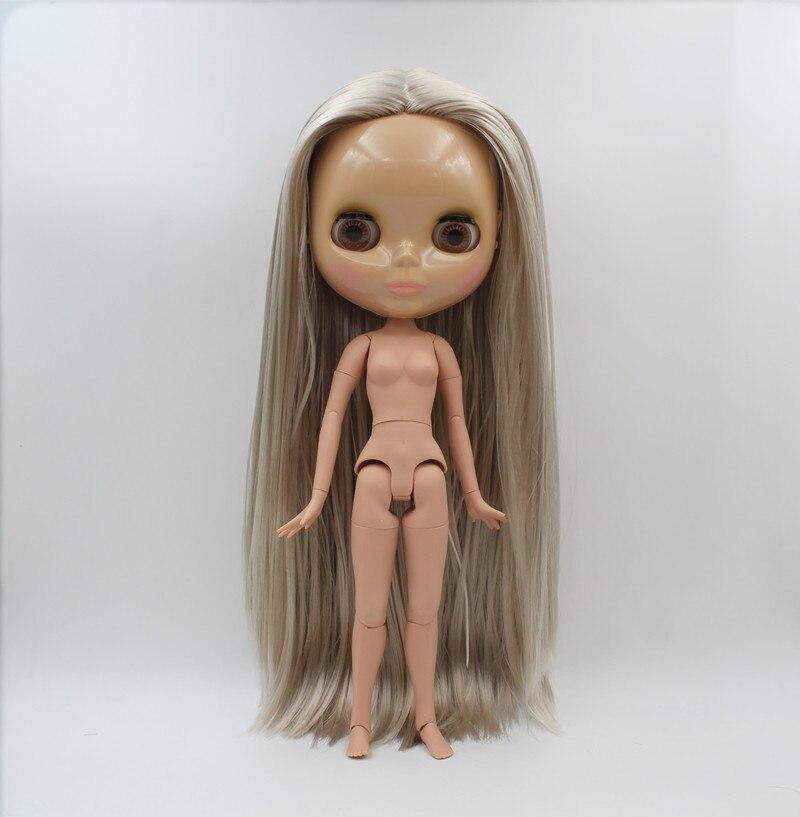 blygirl boneca blyth prata cabelo liso boneca nua 1 6 do corpo a pele bronzeada 19
