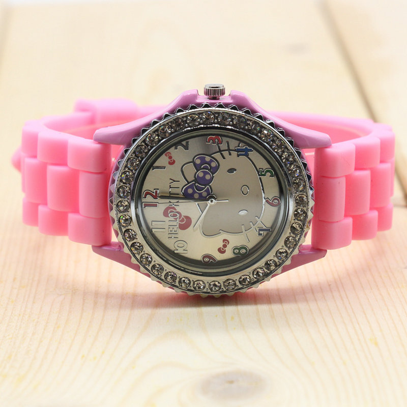 293c24bff32 ... Hello Kitty watches girl silicone cat child watches in box free  shipping watch with box 6 ...