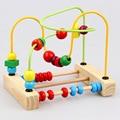 Деревянные развивающие игрушки дети бисера abacus бусины вокруг животных просвещения учебных пособий восприятие цвета 2016 детские игрушки