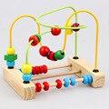 Cuentas del ábaco de madera juguetes educativos para niños con cuentas alrededor de los animales de material didáctico de iluminación color perception 2016 juguetes para bebés