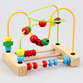 Wooden educational toys children beaded abacus beads around animal enlightenment teaching aids color perception 2016 baby toys