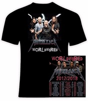 Metallic WorldWired EUROPE 2017 2018 Concert Tour Date T Shirt New Fashion Metal Rock Band T