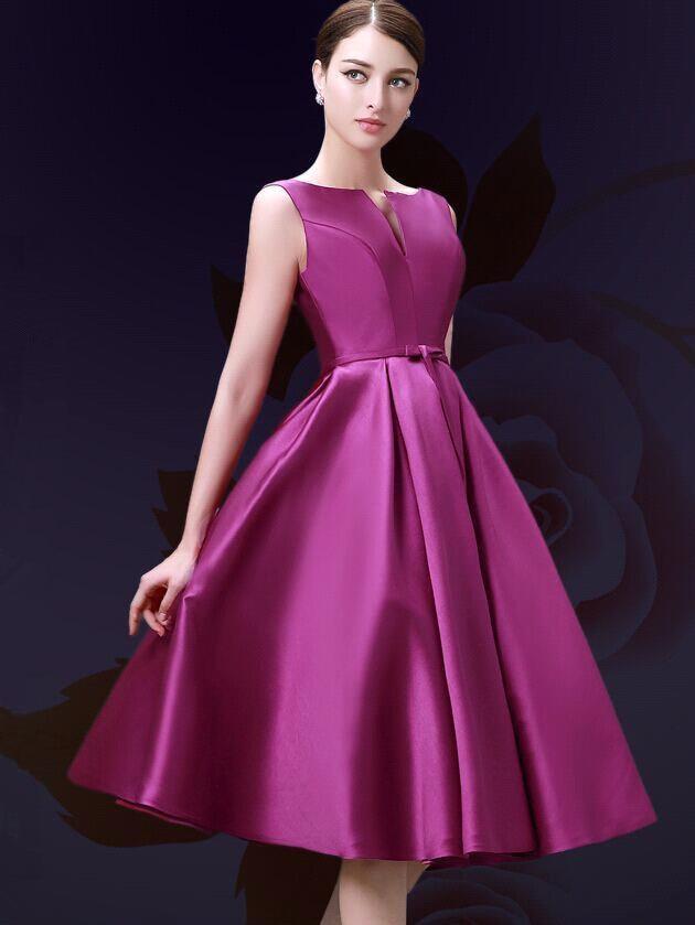 Vistoso Vestido De Cóctel De Color Rosa Caliente Colección - Ideas ...