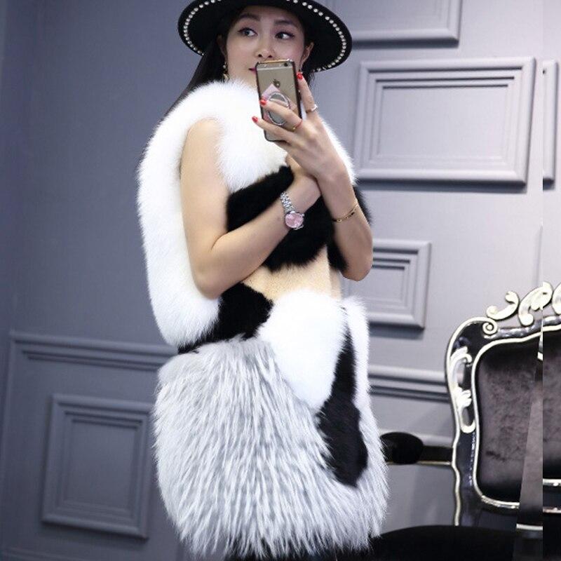LVCHI Mode Manis Bulu Rubah Mantel Mulia Charming Musim Dingin - Pakaian Wanita - Foto 5