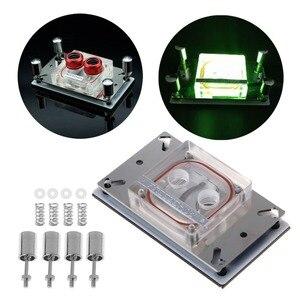 Image 2 - OUVERT SMART CPU Dessus En Acrylique Bloc De Refroidissement Par Eau Pulvérisable Liquide Bloc Avec Canal pour AMD 771 AM2 AM3 AM3 + AM4