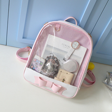 Cute Clear Transparent Bow Backpack