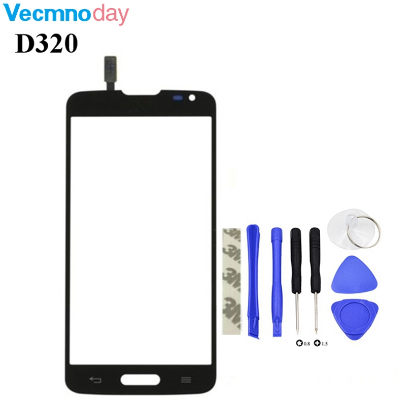 Vecmnoday High Quality New Touch Screen Digitizer Glass Panel replacement For LG L70 D320 D321 D320N + tools