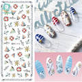 Rocooart DS216 DIY Nail Water Transfer Nails Art Sticker Cartoon Fish Anchor Ocean Nail Wrap Sticker Watermark Fingernails Decal