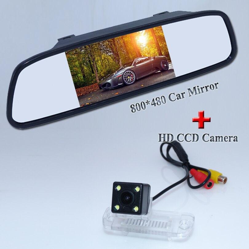LCD 800*480 parkplatz spiegel + rückfahrkamera fit für Benz R-klasse R350 R500 ML350 W203 W211 W209 B200 A160 W219