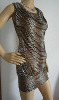 Sexy Strapless Dress Lady Leopard Print Dress Tight Package Hip Dress Sexy Leopard Print Racerback