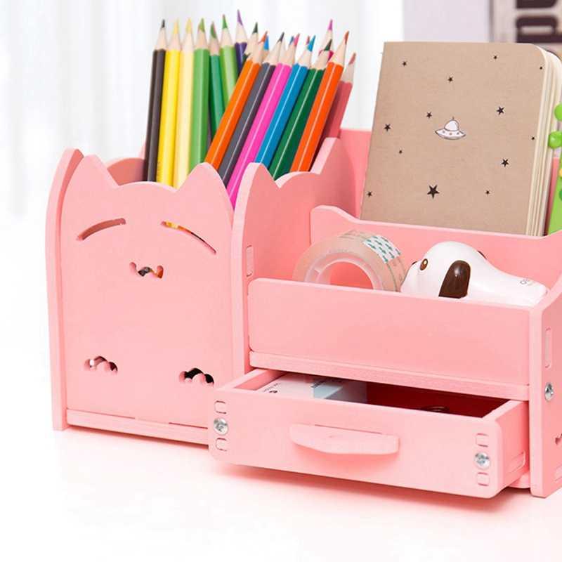 Многофункциональный держатель ручки креативная Мода Корея Студенческие милые детские обои для рабочего стола офисная коробка для хранения Органайзер Ящик
