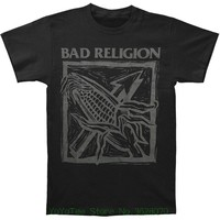 Hot Selling 100 Cotton Tee Shirts Bad Religion Men 039 S Against The Grain Slimfit Slim