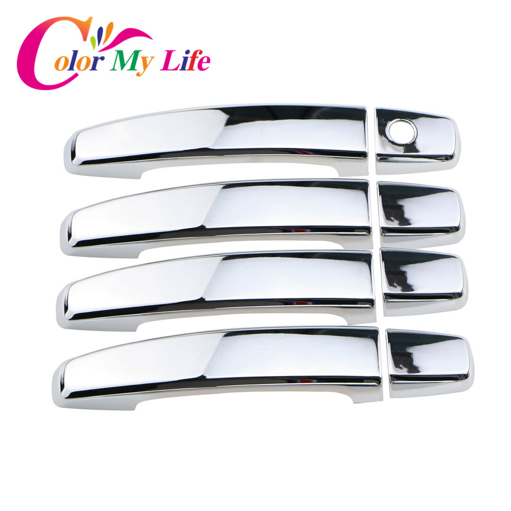 Color My Life ABS Chrome Car Door Handle Cover Doors Protection Trim Sticker for Chevrolet Trax 2011 - 2017 Accessories Parts nitro triple chrome plated abs mirror 4 door handle cover combo