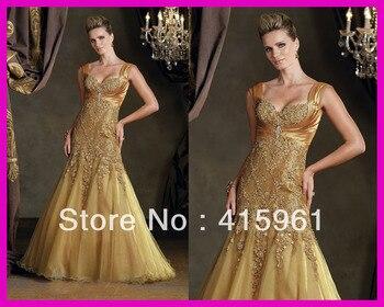 736b3fe3a Vestido de madrinha hermosa tapa de oro encaje manga longitud completa  farsali de Madre de la novia vestidos para bodas 2019 por la noche