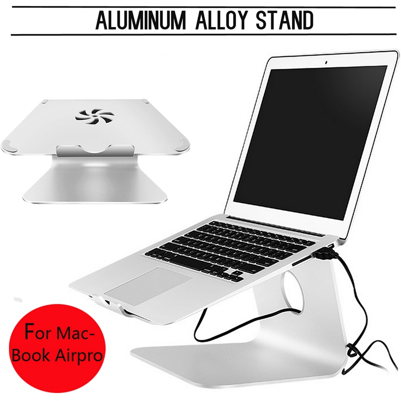 Silver Metal Notebook Laptops Stand Desktop Holder For MacBook Air For Macbook Pro New Laptop Holder Cooling pad For Notebook laptop stand with detachable 4 ports usb hub 14 to 19 inch notebook holder computer bracket for macbook air pro dell asus lenovo