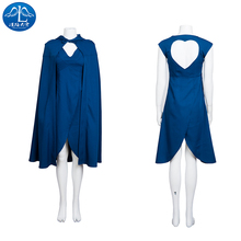 2017 Cosplay Costume  Mother of Dragons Roleplay Game of Thrones Women's Dress Dresswomen Custom Made Free Shipment printio mother of dragons game of thrones