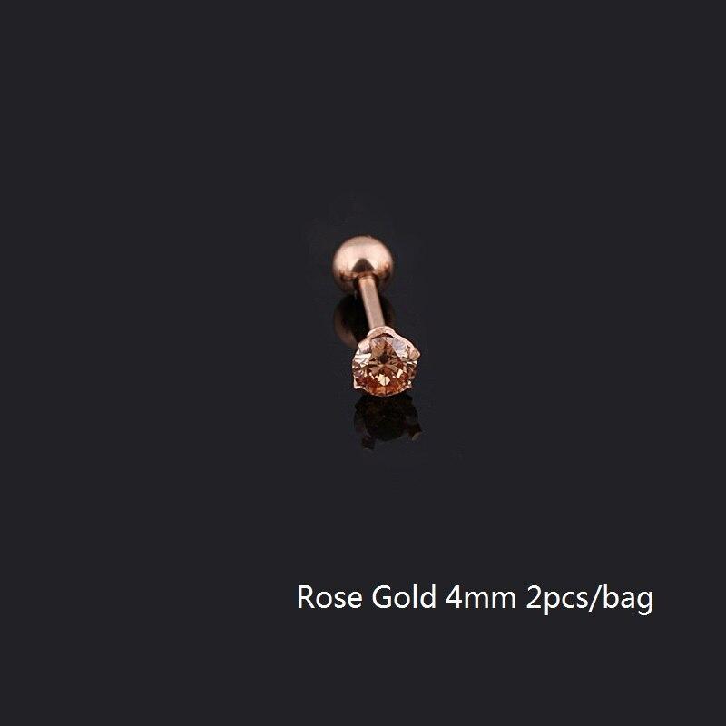 4mm rose gold