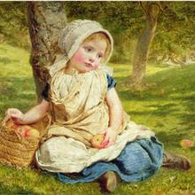 Cute girl Child Needles,DIY Baby 14CT Unprinted Cross