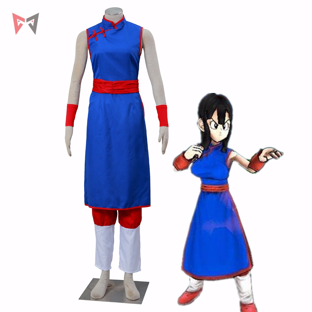 Athemis Anime   DRAGON BALL Chichi Cosplay Costume custom made Dress High Quality