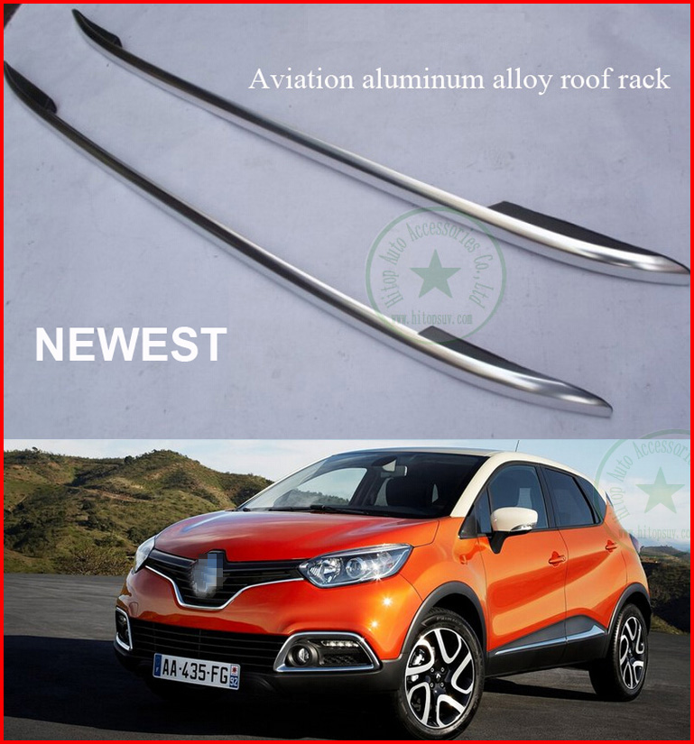 promotion price for Renault Captur aviation aluminum alloy roof rack roof bar rail, 2pcs/set, OE model, free shipping to Asia купить