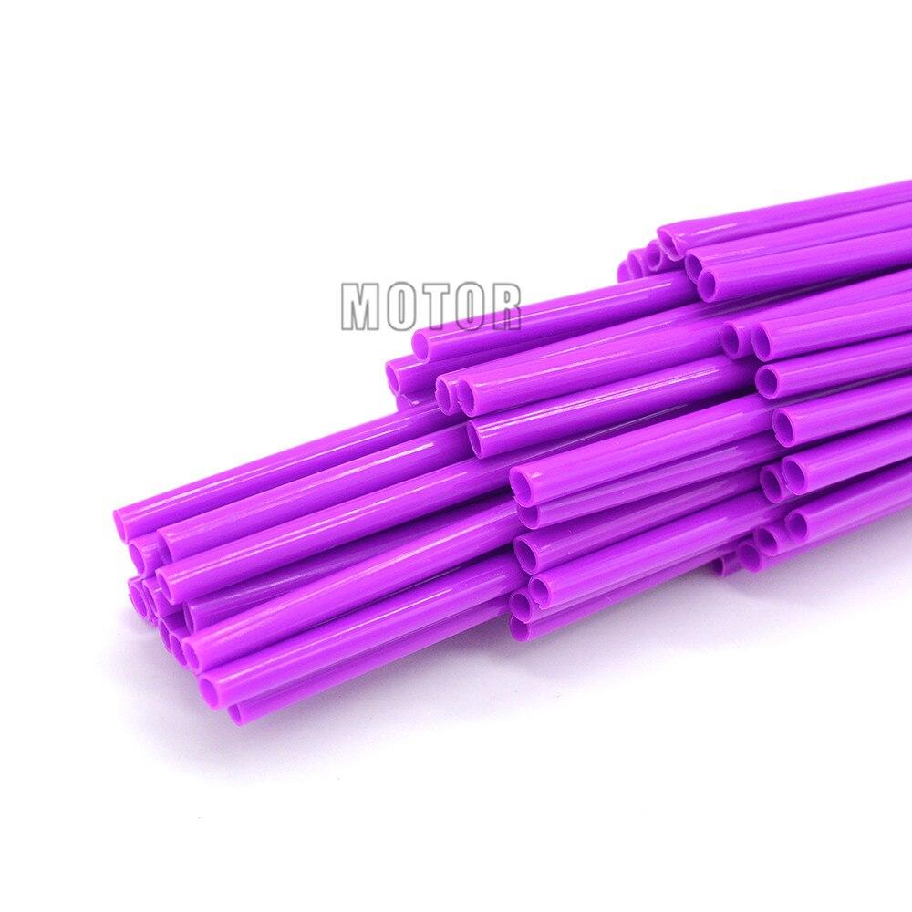 72Pcs Spoke Wrap Kit Purple Custom Wheels Colors Wraps Skins Covers Beta