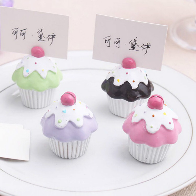 Ctrue Free Shipping 12PC Cupcake Place Card Holders For Wedding Party Vintage Decoracao Casamento Party Supplies