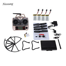 Niosung Upgrade JJRC H8D 4CH 5.8G FPV RC Quadcopter Drone HD Camera + Monitor+ 4 Battery