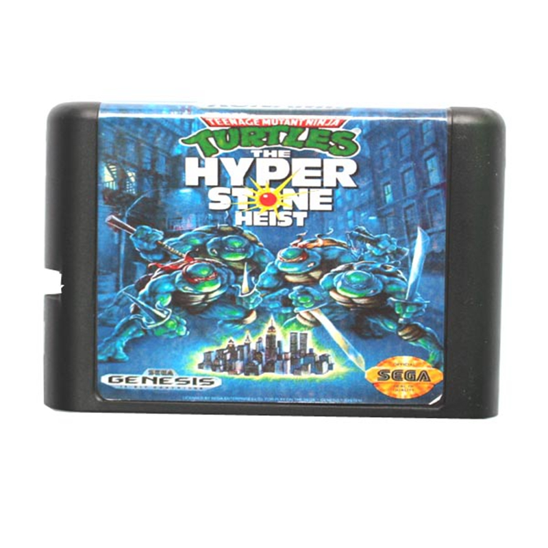 Turtles The Hyperstone Heist 16 bit MD Game Card For Sega Mega Drive For Genesis mickey mouse castle of illusion