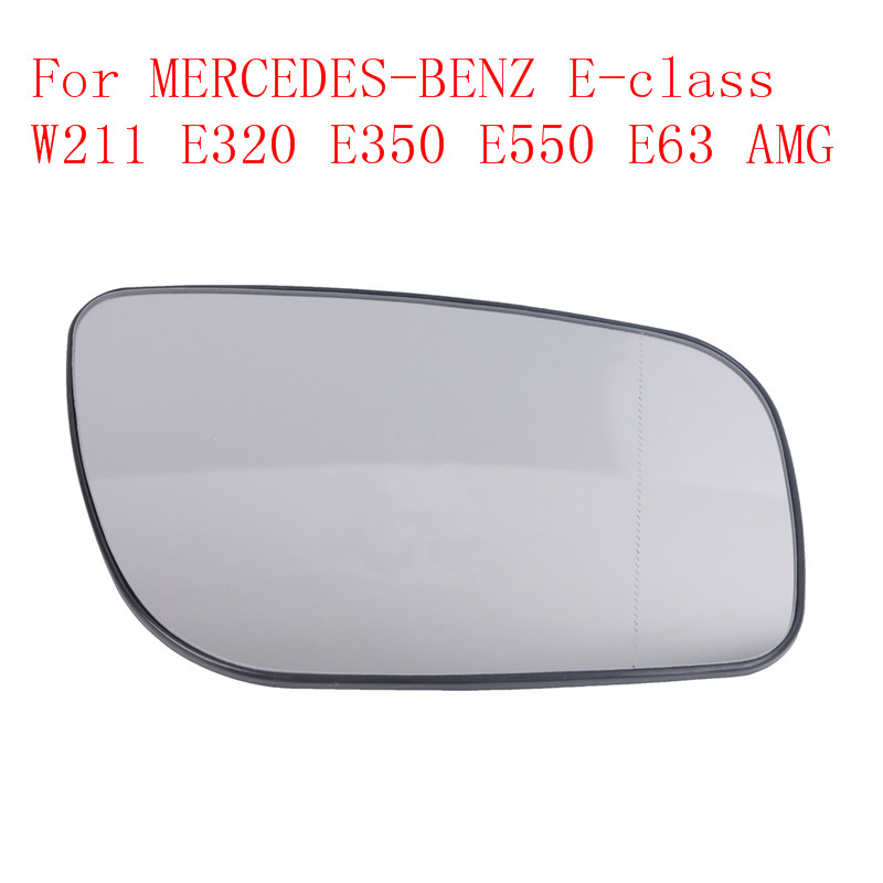Left side wide angle wing mirror glass for Mercedes E-Class 2006-2009 heated