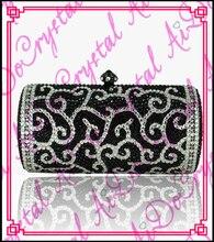 Aidocrystal Hohe qualität Top Fashion designer Schöne Stein kupplung taschen mit strass schwarze handtasche