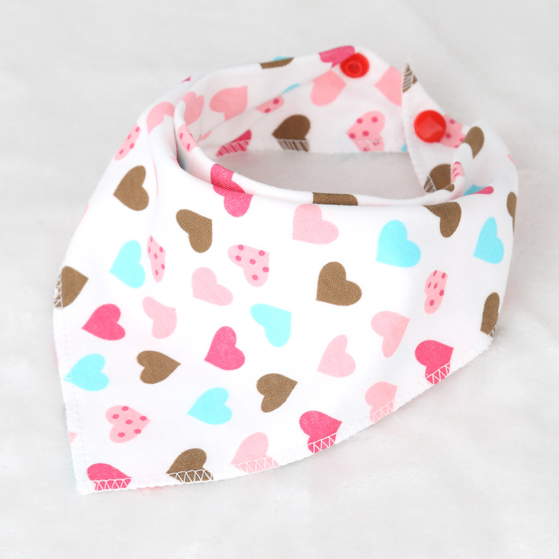Kid Bandana Double Layers Baby Towels Dribble Bibs Babador Character Animal Print Bib Triangular Scarfs Double Buckle Bibs T0307 finger print bandana