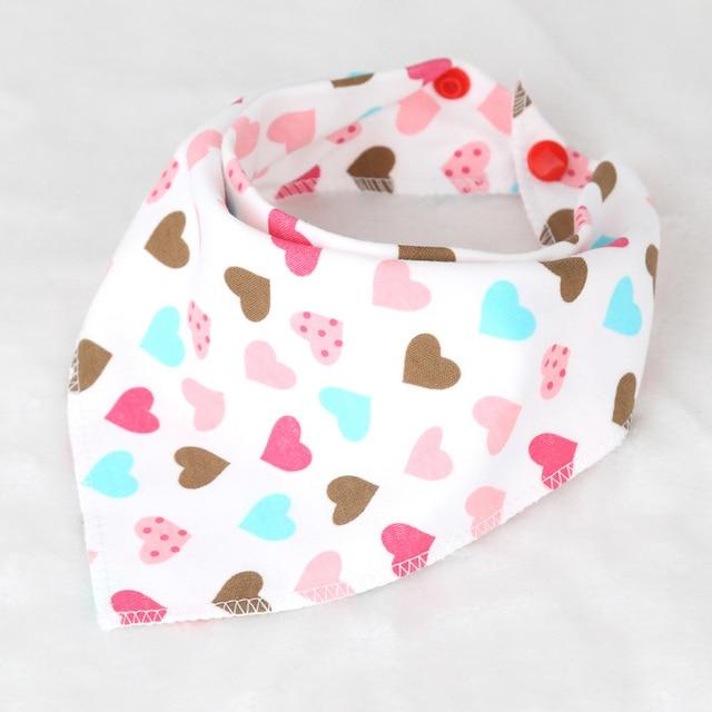 Kid Bandana Double Layers Baby Towels Dribble Bibs Babador Character Animal Print Bib Triangular Scarfs Double Buckle Bibs T0307