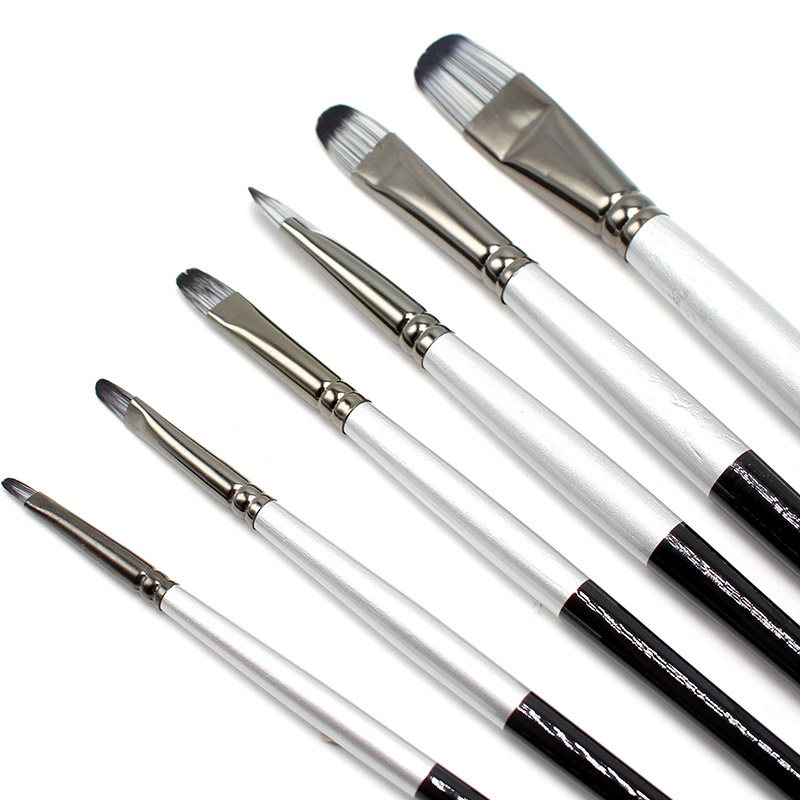 Paint Brushes Ezone Creative Painting Brush New Oil Painting Pens Red Rod Nylon Hair Children Art Painting Tool Flat Brush Student Stationery We Take Customers As Our Gods Painting Supplies