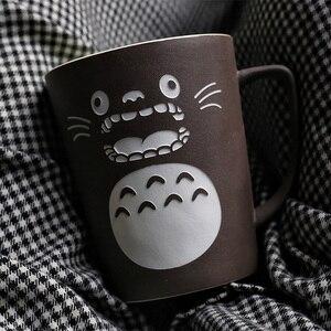Image 4 - Тематические кружки OUSSIRRO Totoro для молока/кофе с крышкой и ложкой, однотонные кружки, чашка, кухонный инструмент, подарок
