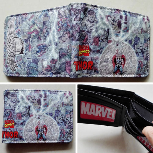2018 Marvel The Avengers The Thor Logo wallets Purse Multi-Color Leather New W223 2018 games pacman games logo wallets purse multi color leather new hot w199