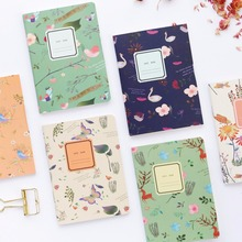 A6 Beautiful bird cute korean notebook mini notebook  flower notebook School Supplies  kawaii