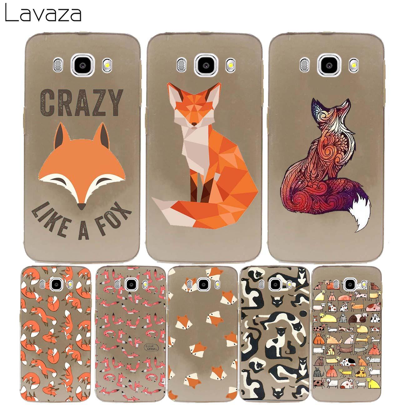 Lavaza sly fox Hard cover case for Samsung Galaxy J3 J5 J7 2017 J1 J2 2016 2015 Ace Pro Prime 2018