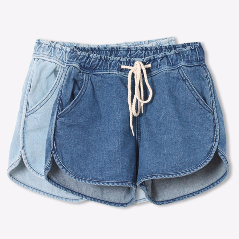 HTB1TEk.JFXXXXXkXpXXq6xXFXXX7 - Summer Women Drawstring Denim Shorts PTC 197